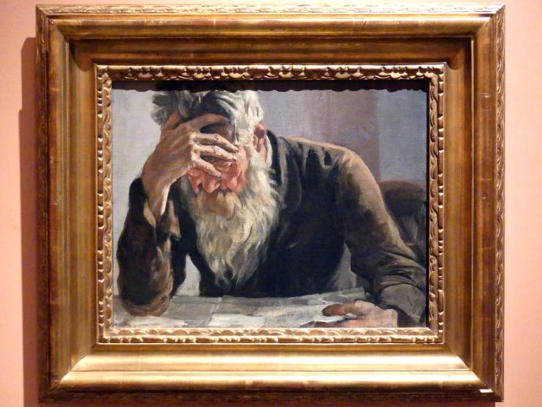 Ferdinand Hodler: Der Leser, um 1885