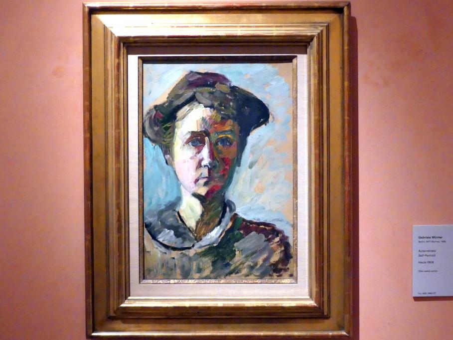 Gabriele Münter: Selbstporträt, um 1908
