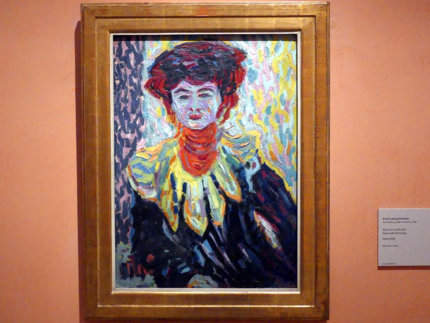 Ernst Ludwig Kirchner: Doris mit Halskrause, um 1906