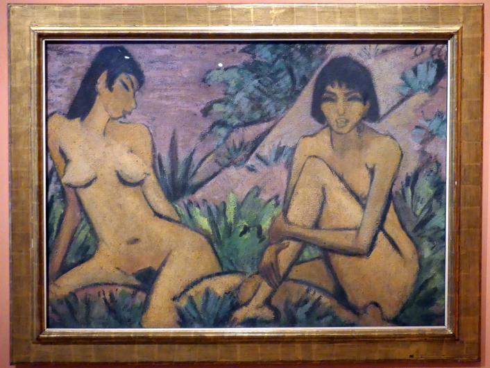 Otto Mueller: Zwei weibliche Akte in einer Landschaft, um 1922