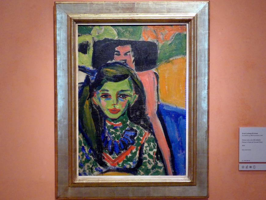 Ernst Ludwig Kirchner: Fränzi vor einem geschnitzten Stuhl, 1910