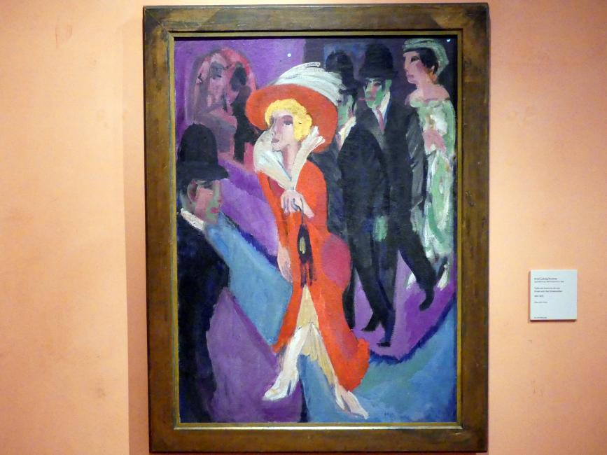 Ernst Ludwig Kirchner: Straße mit rotem Straßenmädchen, 1914 - 1925