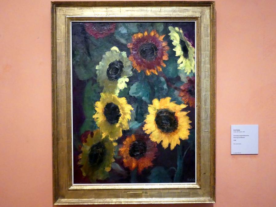 Emil Nolde: Blühende Sonnenblumen, 1936