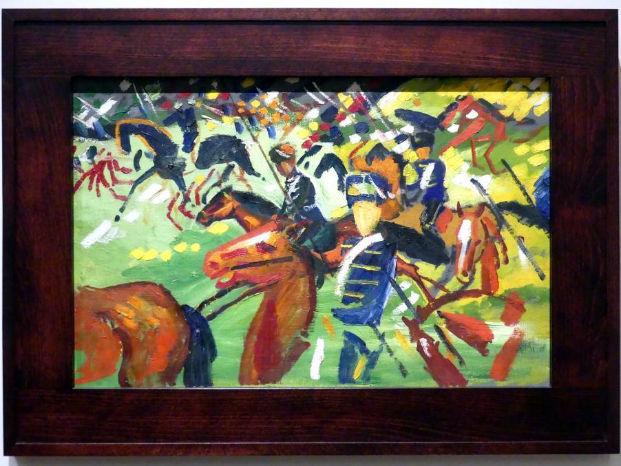 August Macke: Husaren beim Ausritt, 1913