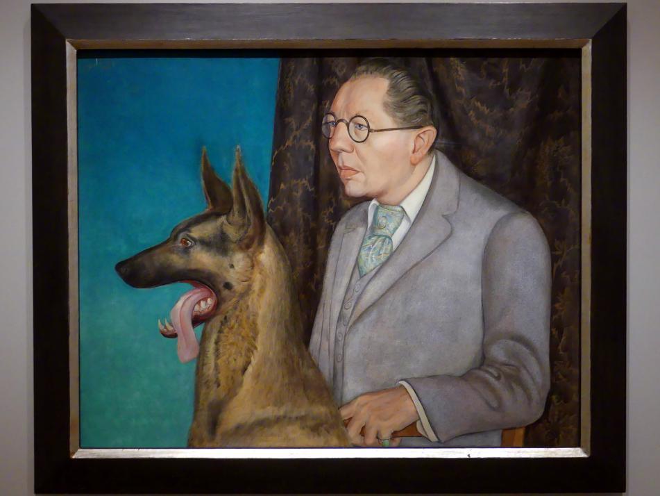Otto Dix: Hugo Erfurth mit Hund, 1926