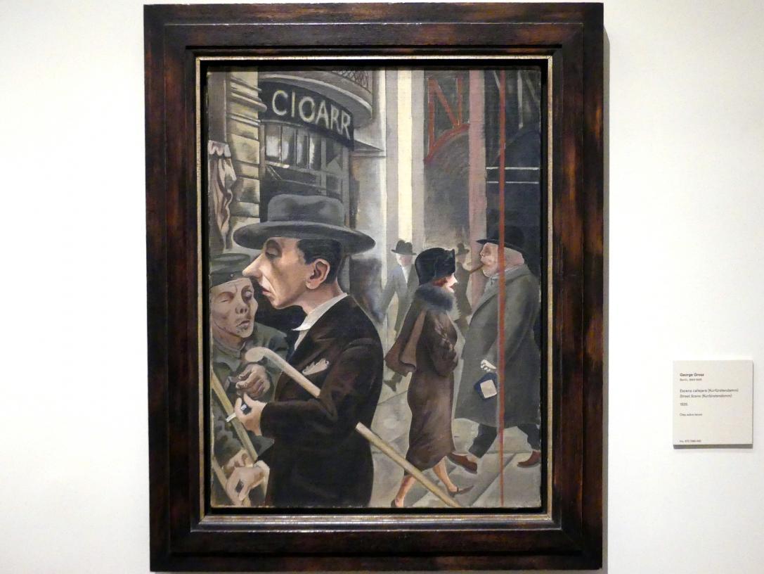 George Grosz: Straßenszene (Kurfürstendamm), 1925