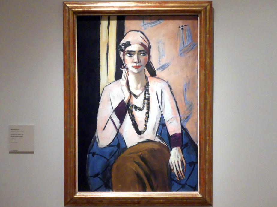 Max Beckmann: Quappi in rosa Pulli, 1932 - 1934