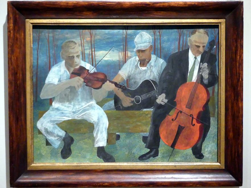 Ben Shahn: Vier-Instrumenten-Orchester, 1944
