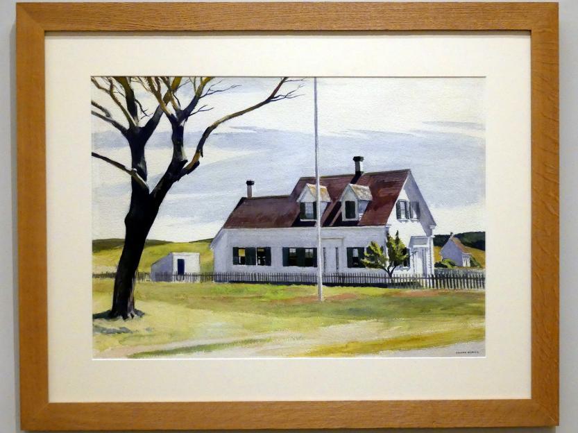Edward Hopper: Toter Baum und Seitenansicht des Hauses Lombard, 1931