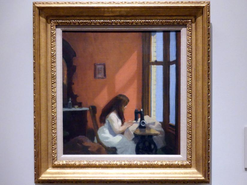 Edward Hopper: Mädchen an einer Nähmaschine, um 1921