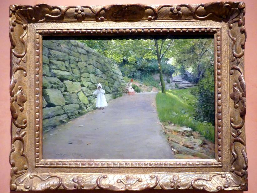 William Merritt Chase: Im Park (ein Seitenweg), um 1889