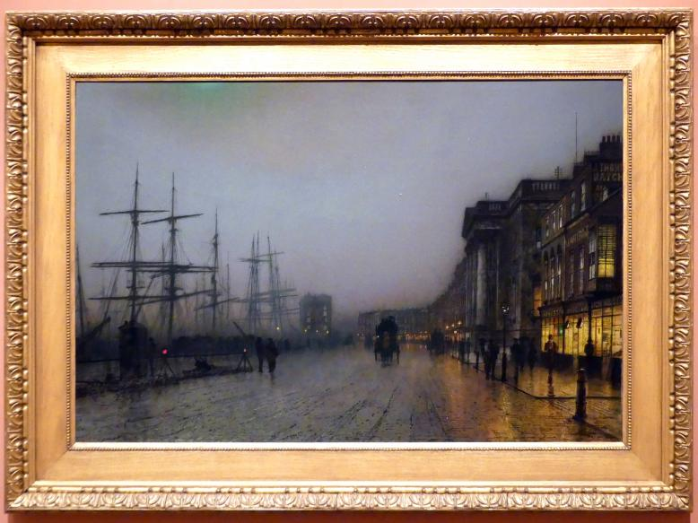 "John Atkinson Grimshaw: ""Canny Glasgow"", 1887"