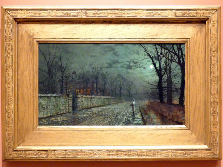 John Atkinson Grimshaw: Abend beim Mondschein, 1880