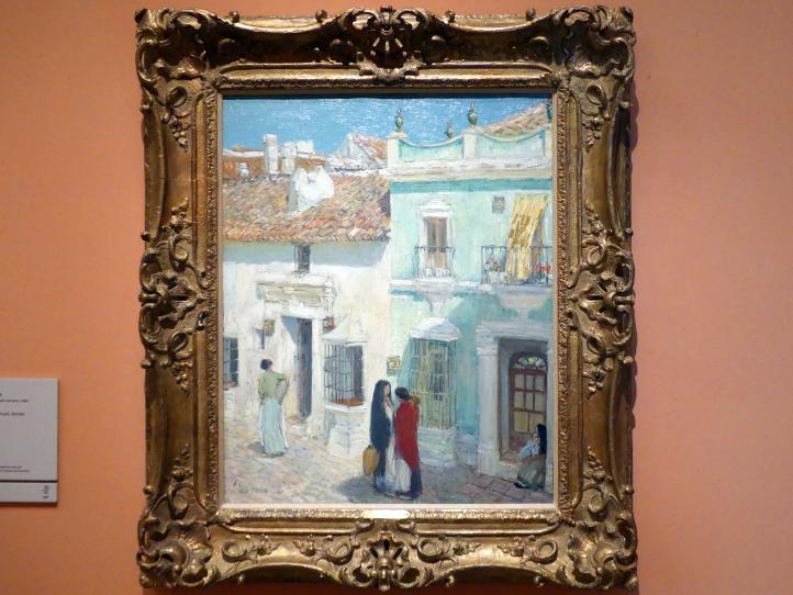 Childe Hassam: Plaza de la Merced, Ronda, Provinz Malaga, 1910