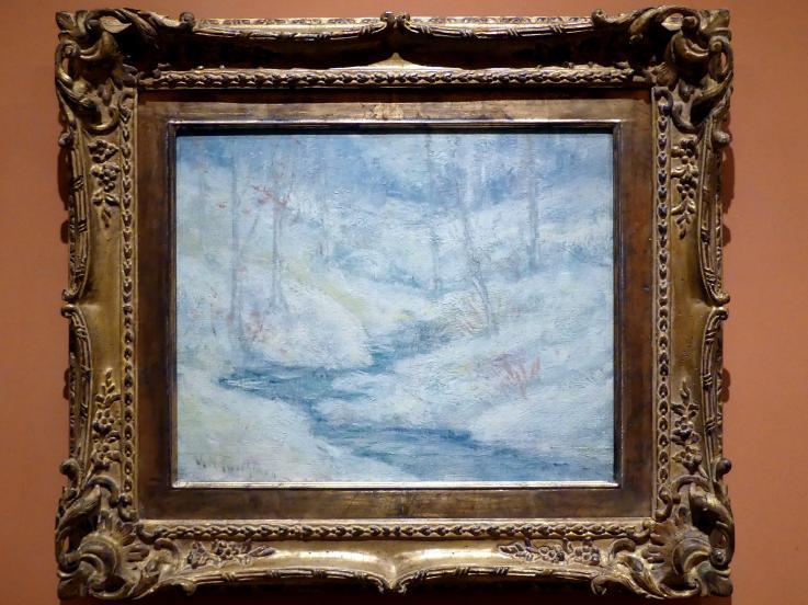 John Henry Twachtman: Schneelandschaft, um 1890 - 1895