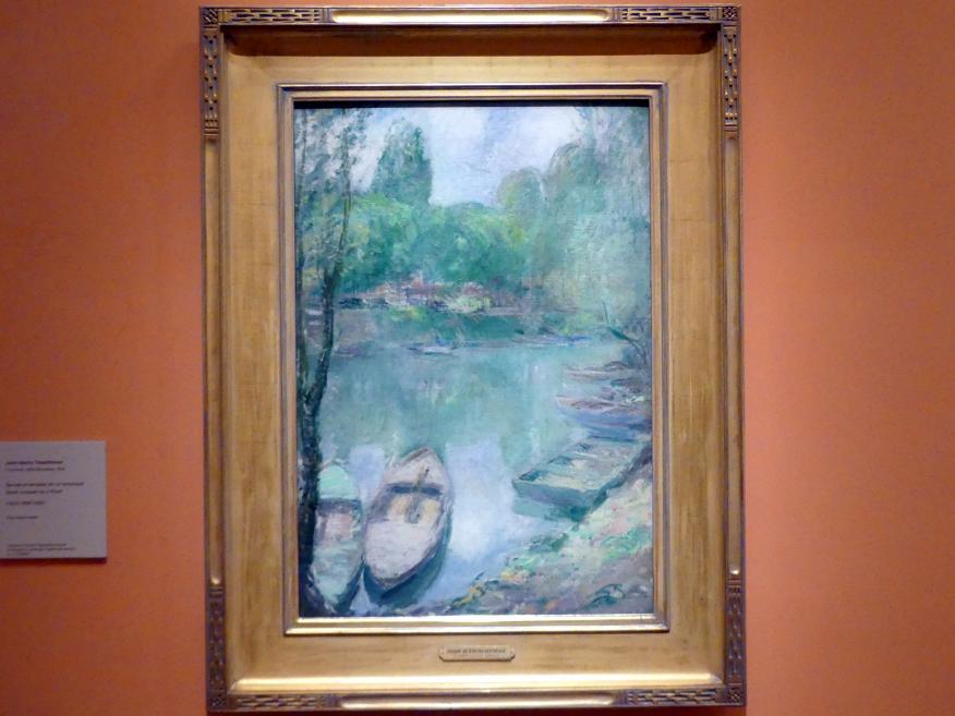John Henry Twachtman: Befestigte Boote auf einem Teich, um 1890 - 1902