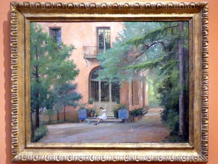 Antoni de Ferrater i Feliu: Haus, Garten und ein Mädchen in der Tür, Um 1913