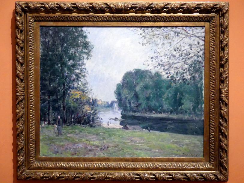 Alfred Sisley: Flussbiegung des Loing im Sommer, 1896