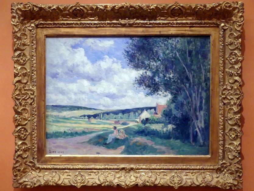 Maximilien Luce: Straße nach Vermenton, Département Yonne, 1906