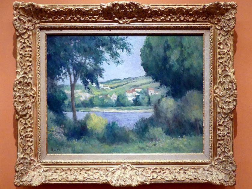 Maximilien Luce: Blick durch Bäume auf den Rand von Rolleboise, um 1920 - 1930