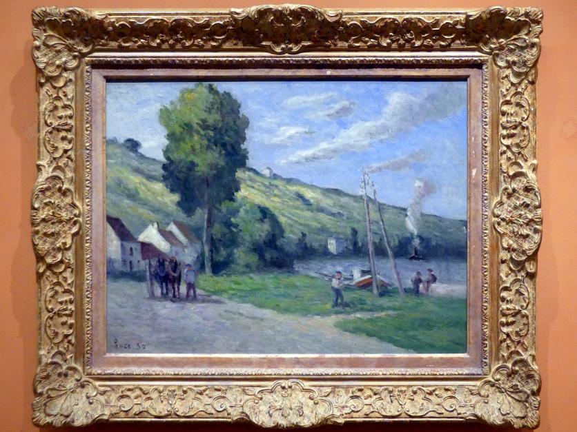Maximilien Luce: Dorfeingang von Rolleboise, 1930