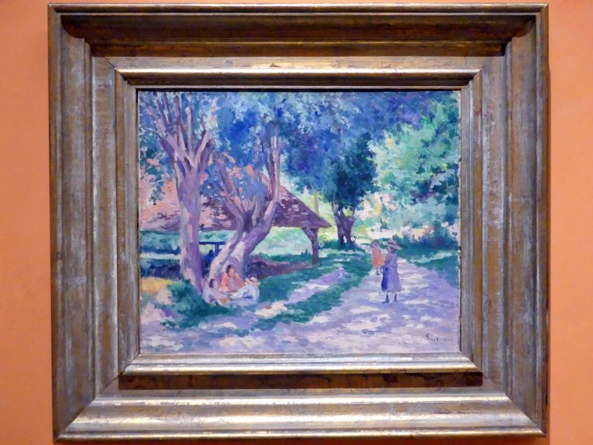 Maximilien Luce: Bessy, Yonne, schattiger Pfad, 1905