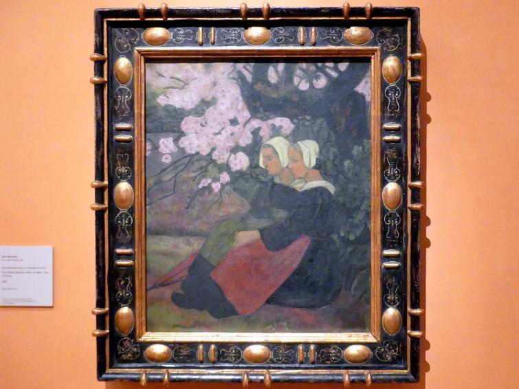 Paul Sérusier: Zwei bretonische Frauen unter einem blühenden Apfelbaum, 1892