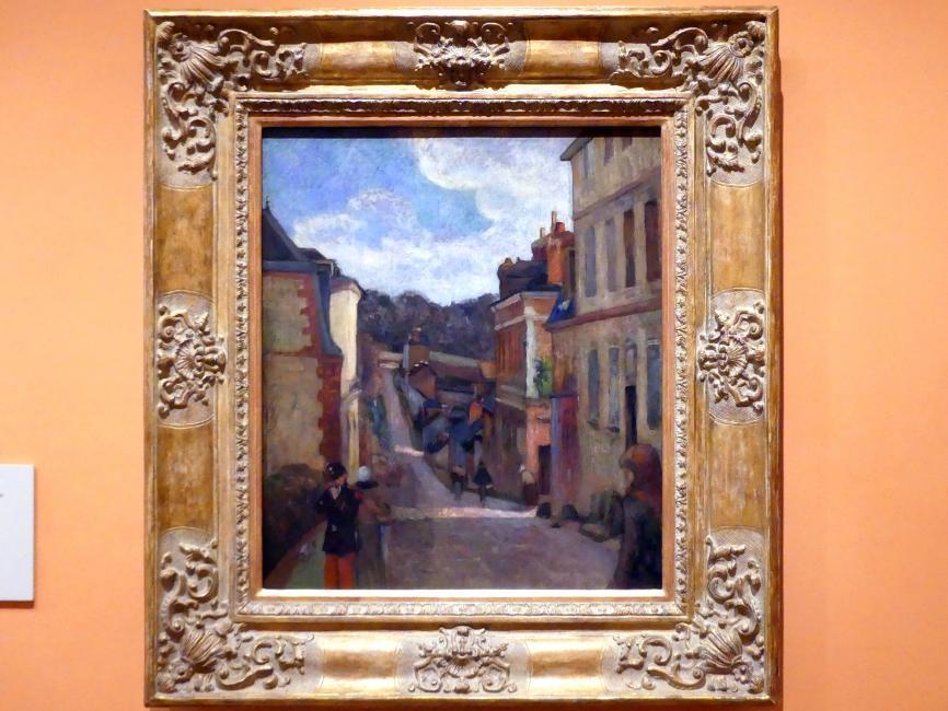 Paul Gauguin: Rue Jouvenet in Rouen, 1884