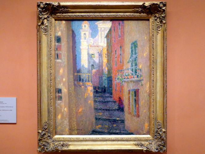 Henri Le Sidaner: Rue de l'Église, Villefranche-sur-Mer, um 1928, Bild 1/2