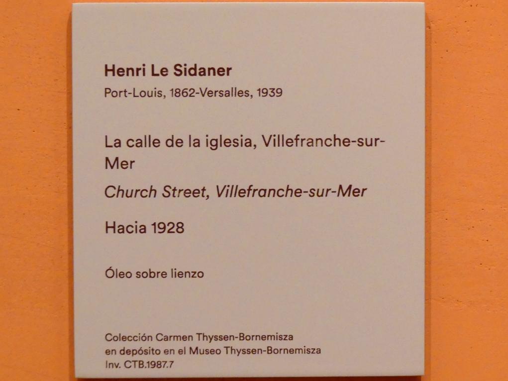 Henri Le Sidaner: Rue de l'Église, Villefranche-sur-Mer, um 1928, Bild 2/2