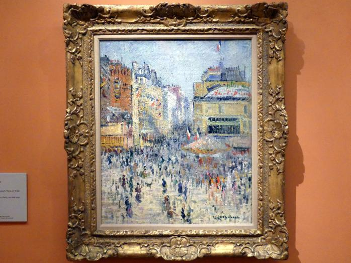 Gustave Loiseau: 14. Juli in der Rue de Clignancourt, Paris, um 1925