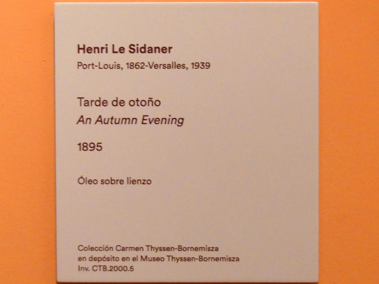 Henri Le Sidaner: Herbstabend, 1895, Bild 2/2