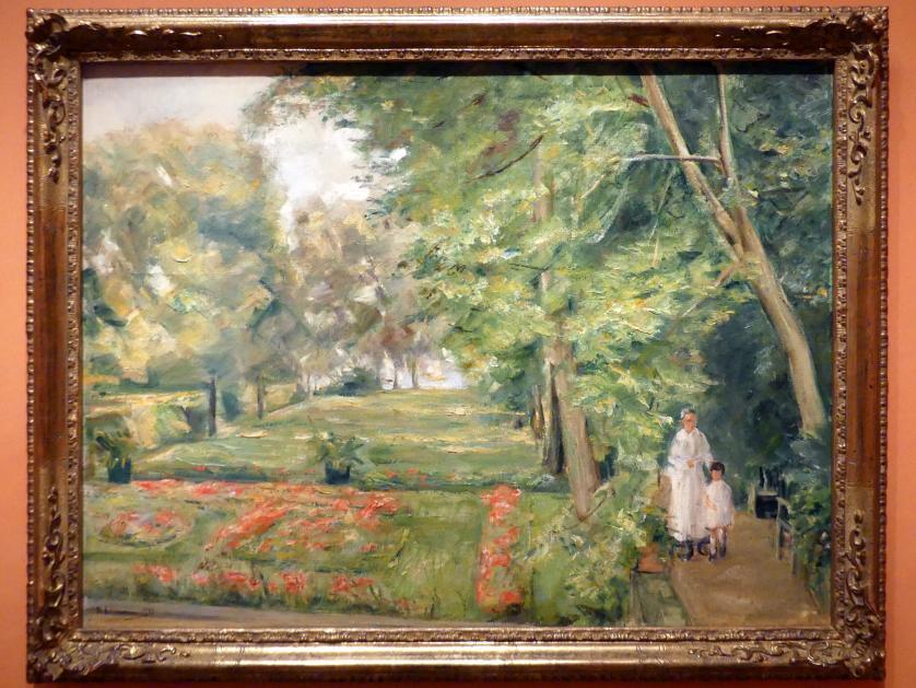 Max Liebermann: Enkelin des Künstlers mit Gouvernante im Garten am Wannsee, 1923