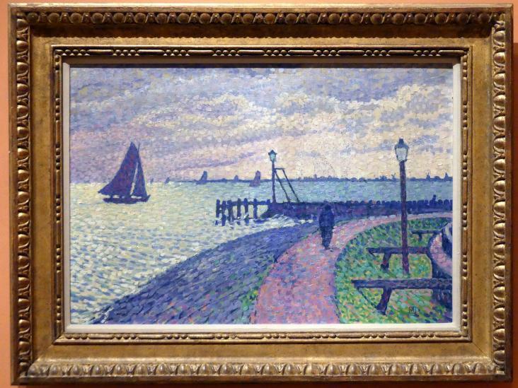 Théo van Rysselberghe: Hafeneinfahrt von Volendam, um 1896