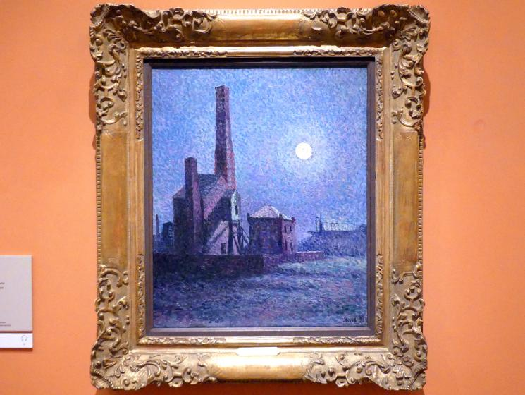 Maximilien Luce: Fabrik im Mondschein, 1898