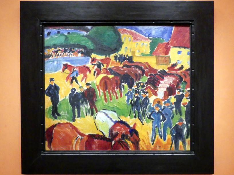 Max Pechstein: Pferdemesse, 1910