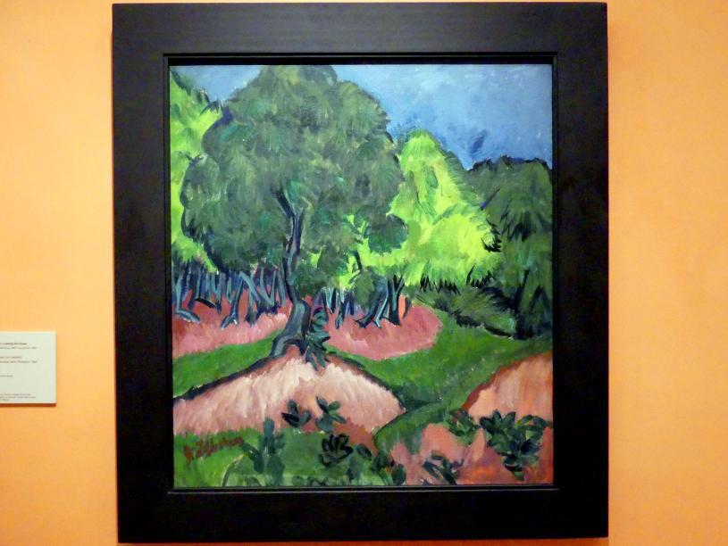Ernst Ludwig Kirchner: Landschaft mit Kastanienbaum, 1913