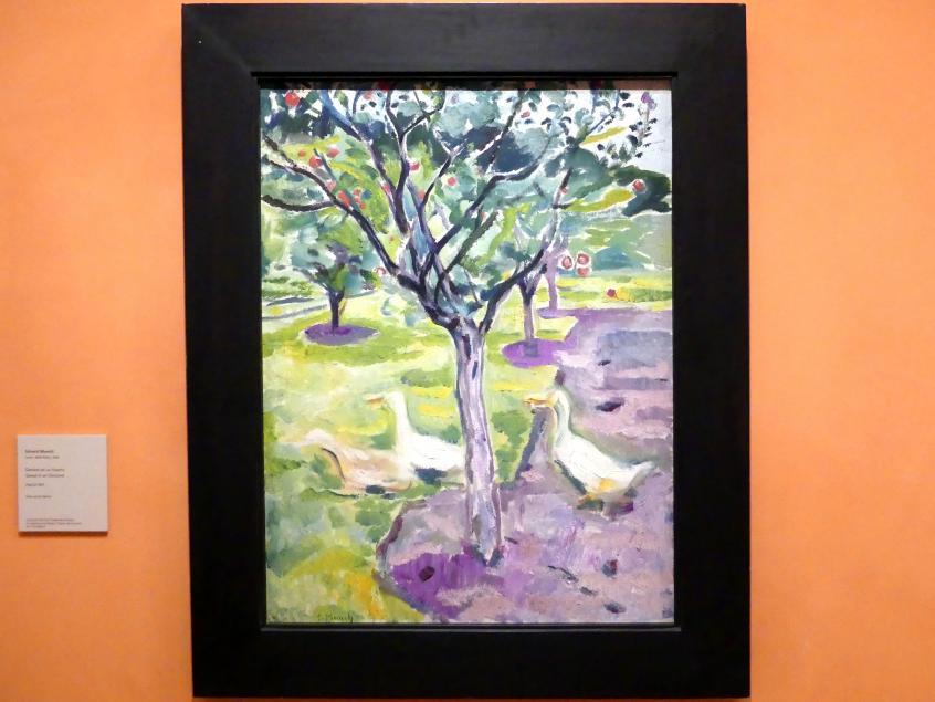 Edvard Munch: Gänse in einem Obstgarten, um 1911