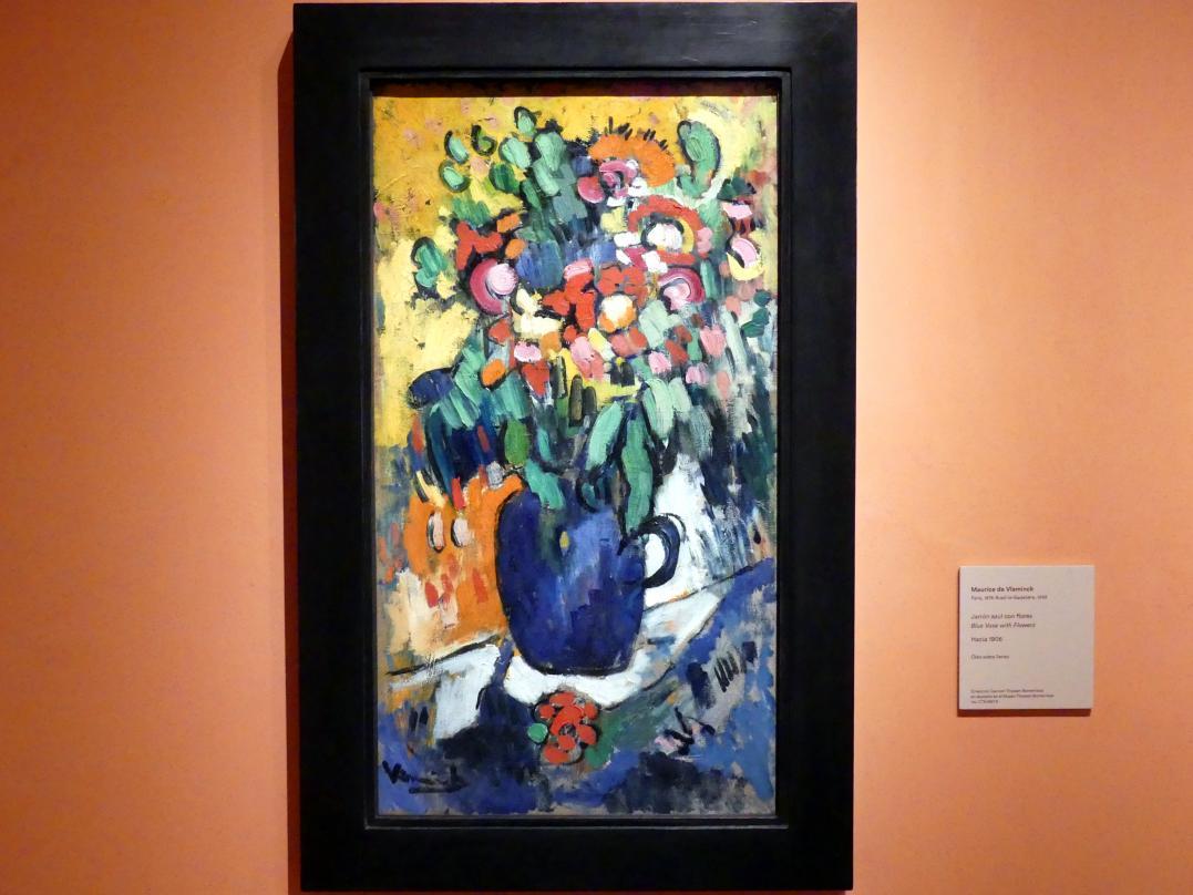 Maurice de Vlaminck: Blaue Vase mit Blumen, um 1906
