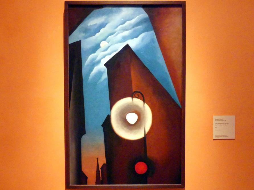 Georgia O'Keeffe: New York Straße mit Mond, 1925