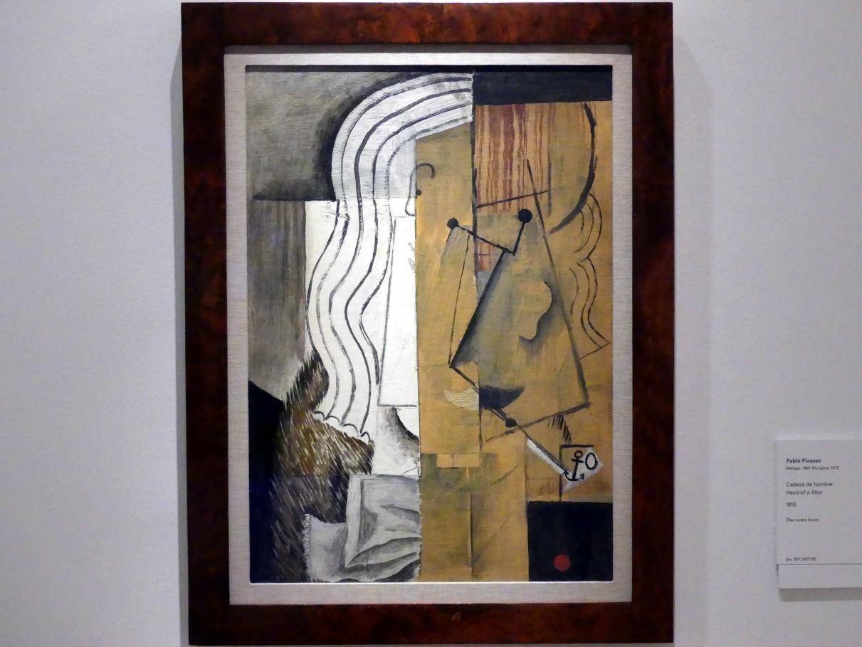 Pablo Picasso: Kopf eines Mannes, 1913