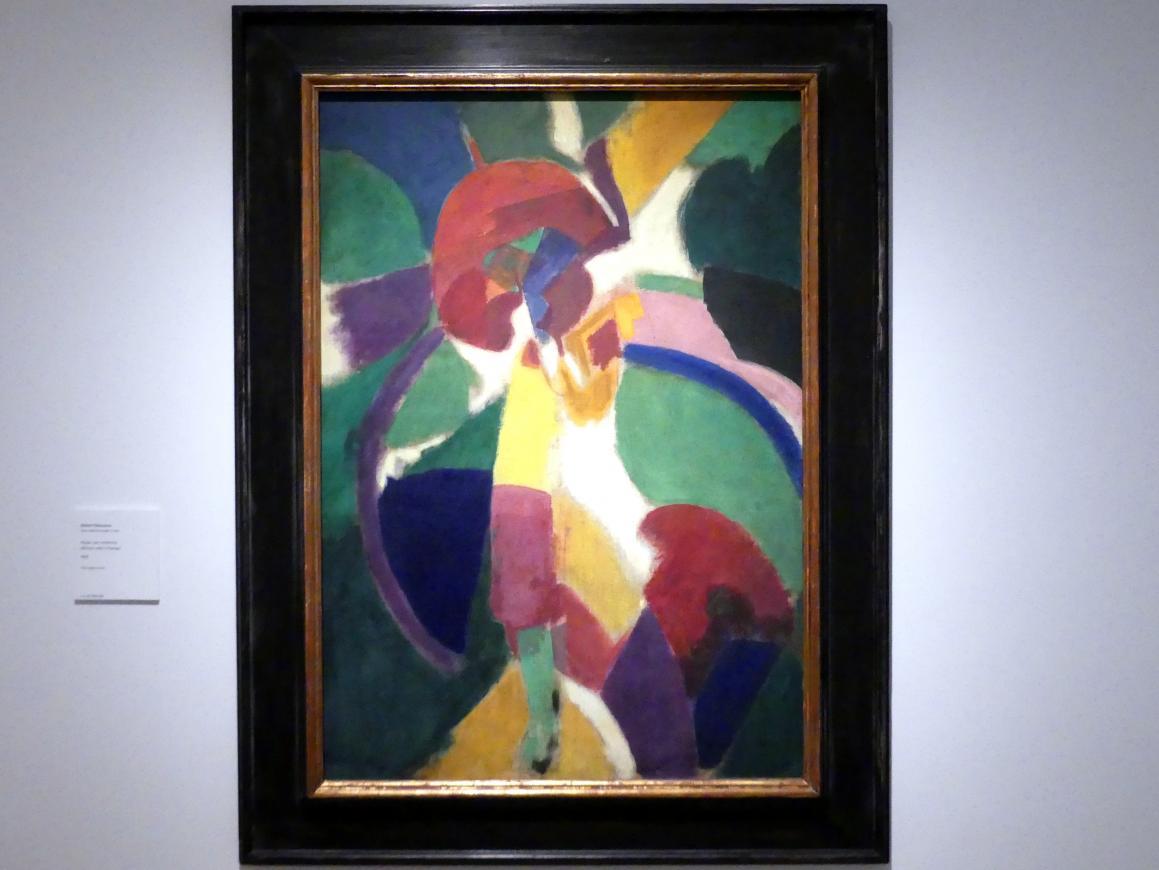 Robert Delaunay: Frau mit Sonnenschirm, 1913