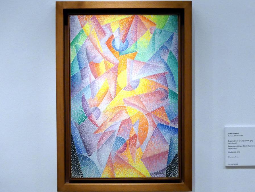 Gino Severini: Verbreitung des Lichts (zentrifugal und zentripetal), um 1913 - 1914