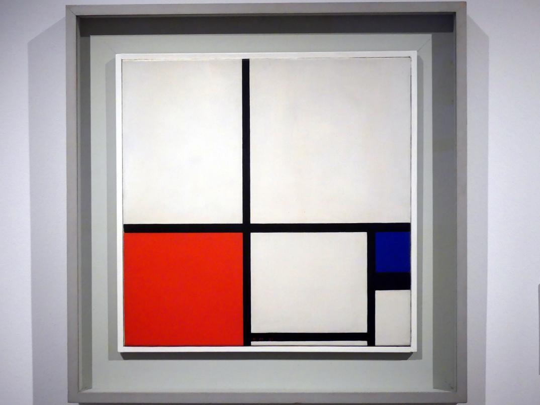 Piet Mondrian: Komposition in Farben / Komposition Nr. 1 mit Rot und Blau, 1931