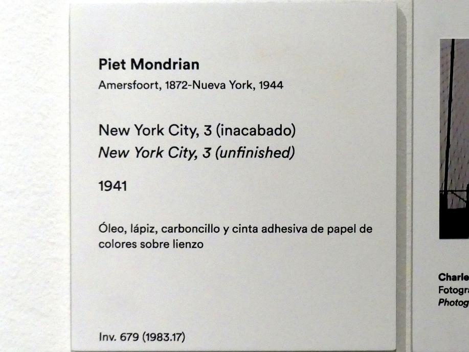 Piet Mondrian: New York City, 3 (unfertig), 1941, Bild 2/3