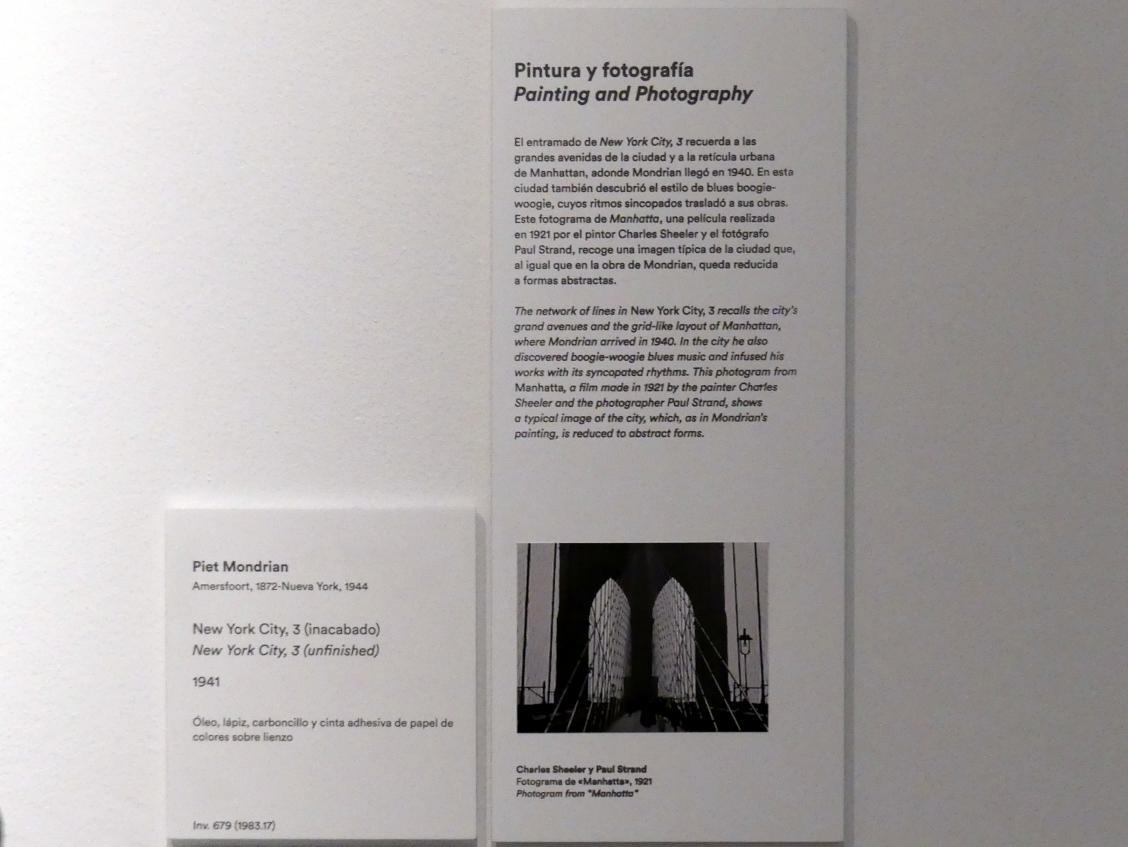 Piet Mondrian: New York City, 3 (unfertig), 1941, Bild 3/3