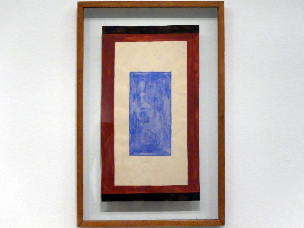 Natalija Sergejewna Gontscharowa: Komposition mit blauem Rechteck, um 1950 - 1959