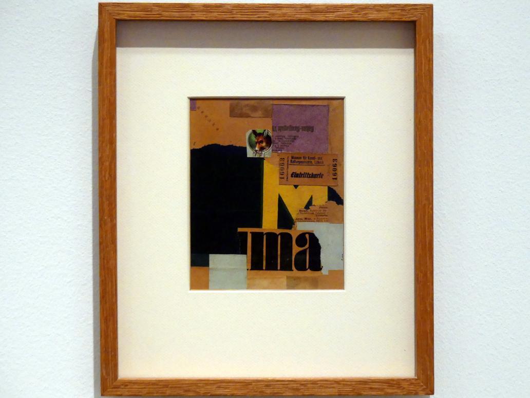 Kurt Schwitters: Eintrittskarte (Mz 456), 1922