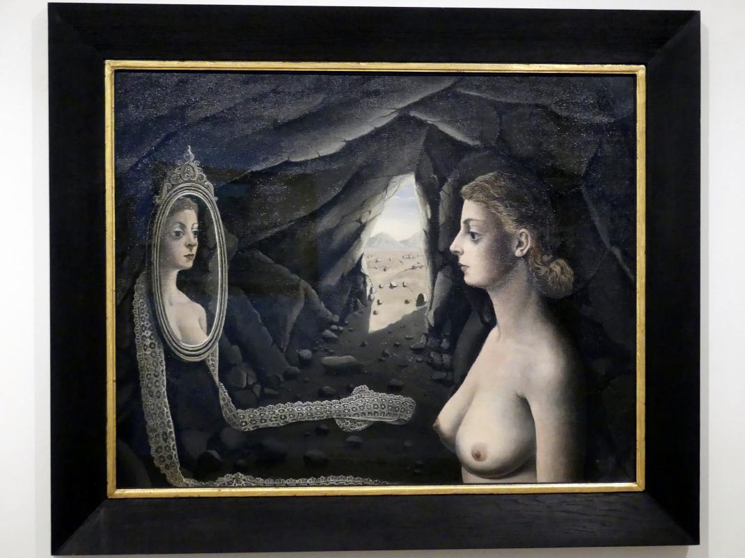 Paul Delvaux: Frau  im Spiegel, 1926