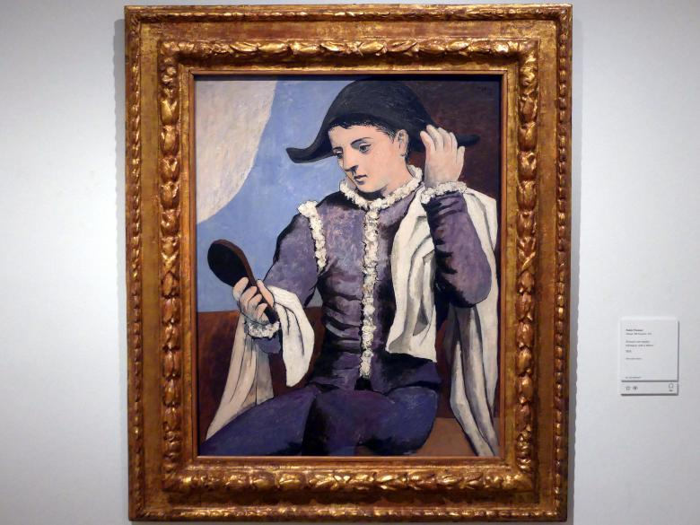 Pablo Picasso: Harlekin mit Spiegel, 1923